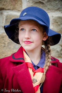 'GIRL GUIDE' - 'CRICH TRAMWAY VILLAGE WW2 / HOMEFRONT EVENT'