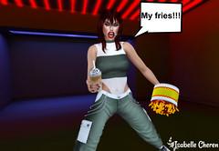 My Fries!! (Isabelle Cheren) Tags: misschelsea chichica junkfood badunicorn secondlife isabellecheren equal10