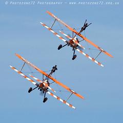 8029 Wingwalkers (photozone72) Tags: eastbourne airshows aircraft airshow aviation canon canon7dmk2 canon100400f4556lii 7dmk2 wingwalkers aerosuperbatics boeing stearman biplane
