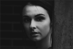 Becca (Images by A.J.) Tags: editorial portrait model bandw monochrome infrared bw blackandwhite