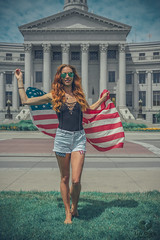 Labor Day 2018 (Luv Duck - Thanks for 13M Views!) Tags: select ali usa usflag downtowndenver beautifulgirl redhead redhair civiccenterparkdenver model modeling patriotic