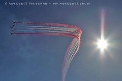 0905 Enid smoke and sun (photozone72) Tags: jersey airshows aircraft airshow aviation canon canon80d 80d 24105mmf4l canon24105f4l raf rafat redarrows reds redwhiteblue