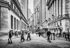 Downtown NYC (Luis Sousa Lobo) Tags: img34982 nyc new york manhattan nova iorque blackwhite street wall finance usa united states city