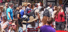 food line (albyn.davis) Tags: people crowd colors nyc timessquare newyorkcity urban city panorama usa
