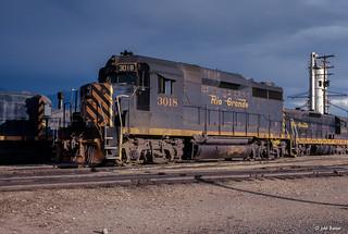 D&RGW 3018 at Salt Lake City, UT