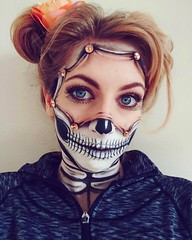 Creative skull makeup! By @__aim_ (ineedhalloweenideas) Tags: halloween skull makeup make up ideas for 2017 happy night before christmas october 31 autumn fall spooky body paint art creepy scary horror pumpkin boo artist goth gothic amazing