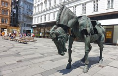In Vienna (Silver Chew) Tags: europe vienna city old ancient architecture horse sculpture design art building