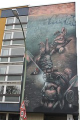 Nomad Clan_4087 Lüssowstrasse Berlin (meuh1246) Tags: streetart nomadclan lüssowstrasse berlin lapin bonnet aylo cbloxx fumeur cigarette