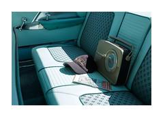 Backseat Radio (realjv) Tags: americancars americanday automotive backseat brooklands brooklandsmuseum cap chryslernewyorker fuji fujifilm hat radio xpro2