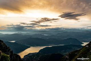 Sunset at Monte Generoso