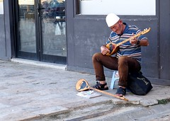 A street musician, Skopje (ali eminov) Tags: skopje macedonia musicians streetmusician musicalinstruments saz