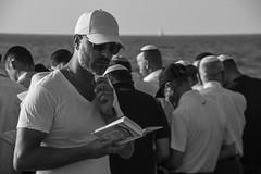 DSC_1630 (Dan_lazar) Tags: charlesclore telaviv israel beach shofar roshhashana jews sea sunset prayer bw bnw blackandwhite orthodox