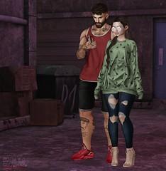 . EohB&Kiim . #Catwa #Straydog #Modulus #ValeKoer #Kalback #VERSOV #Burley #RIOT #Blah #GlamAffair #TheArcade #TaketomiWEST (Crayolas Clothes) Tags: catwa straydog modulus valekoer kalback versov burley riot blah glamaffair thearcade taketomiwest lost street urban deers jean denin short tank shoes heels red green couple coupleg blog maitreya belleza avatar 2018 peru peruvian