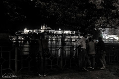 you will come out of the restaurant and night Prague will never disappoint you ... (kadofr) Tags: czphoto prague czech castle bellevue vltava river