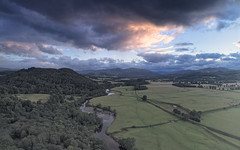 Strathearn (ShinyPhotoScotland) Tags: art photography equipment camera nature places scotland perthshire landscape vista emotion rawconversion manipulated composite hdr enfuse digikam composition drone toned shapeandform lines contrasts idyll dji phantom4advanced highviewpoint sky clouds mankindnature skyearth tranquil colour vibrant calm rawtherapee serifaffinityphoto strathearn appreciation vanishingpoint rural pastoral cloudappreciation flying comrie
