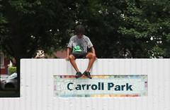 IMG_1909 (Philadelphia Parks & Recreation) Tags: carroll park dedication ribbon cutting playground play kids summer summertime laugh spray sprayground sprinkler jungle gym running laughing run playing new upgrades