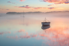 Dead calm (Justin Minns) Tags: ferry butley sunrise suffolk summer