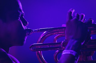 A photo ecstasy click on this show // Hypnotic Brass Ensemble in Brazil