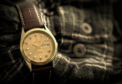 Elgin, Selfwinding. 2 (EOS) (Mega-Magpie) Tags: canon eos 60d time timepiece watch wristwatch elgin 17 jewel automatic classic leather band indoors