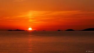 Coucher de soleil sur les iles sanguinaires
