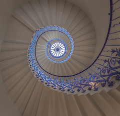 Never Ending Circles (Wizard CG) Tags: up light gb royal uk exposure england europe raw range travel tonemapped tourist attration dynamic urban united kingdom photo photography photomatrix photoshop processing architecture art symmetry high landscape lightroom colour capital blending london greenwich spiral staircase tulip circle circular steps stairs stairway railing queens house building