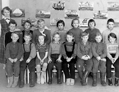 Class photo (theirhistory) Tags: boy children child kid girl school group class pupils students form teacher ships jumper trousers wellies rubberboots classroom pictures