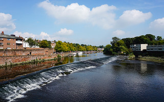 Chester Weir from the Old Dee Bridge.