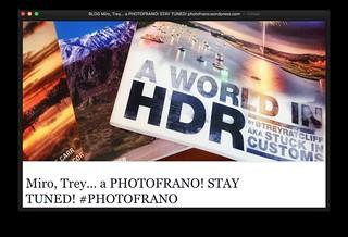 BLOG: Miro, Trey... a PHOTOFRANO! STAY TUNED! #PHOTOFRANO