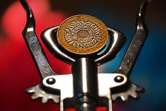 Macro Mondays Cogwheel (Group Founder) Tags: macromondayscogwheel macromondays cogwheel corkscrew standingontheshouldersofgiants nikon nikond3200 macro coin £2 twopoundcoin 2poundcoin dof bokeh pink blue gold steel silver