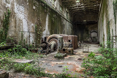 Hydro V 05 (Travelers Of The Past) Tags: power plant centrale turbine jungle urbex hydraulique urban exploration urbaine friche decay lost place forbidden places abandoned abandonné forget forgotten exploring explorer explore explo