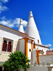 White and Blue (ema_leo) Tags: palácio nacional de sintra portugal buildings white blue history