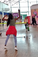 Shoppers Badminton and 'This Girl Can' (DaveB4) Tags: badminton whcbn hatfield galleria