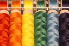 Pride Threads (oddbodd13) Tags: macromondays multicolour macro thread cotton sewing haberdashery spool pride colour smileonsaturday