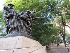 107th Infantry Memorial World War One Soldiers NYC 8246 (Brechtbug) Tags: 107th infantry memorial dedicated soldiers who died during world war i created by sculptor karl morningstar illava central park 5th ave 67th streets represents seven nyc 08232018 new york city september 29 1927 wwi one public art statue sculpture august 2018