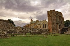 Saint Mary the Virgin (TonyKRO) Tags: northumberland england church priory lindisfarne holy island religion history historic green clouds dark destination tourist attraction tourism holyisland