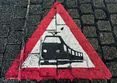 "Bahnübergang (pni) Tags: ground tram crossing ""traffic sign"" ""frankfurt am main"" ger18 germany deutschland pekkanikrus skrubu pni"