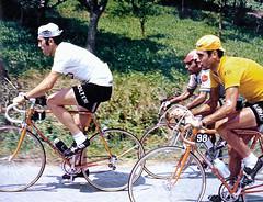 "Ocana Merckx 1971 (Chris Protopapas) Tags: eddymerckx luisocana"" merckx ocana tourdefrance kessels motobecane campagnolo tdf molteni bic bicycle peloton racing cinelli"