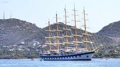 L'arrivée (The arrival) (Ratatouye) Tags: royalclipper boat bateau voilier méditerranée mer sea portovecchio corse corsica island french