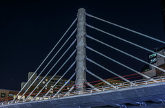cable-stayed span (pbo31) Tags: bayarea california nikon d810 color summer 2018 boury pbo31 sanfrancisco city urban night black dark lightstream motion traffic roadway financialdistrictsouth transit center salesforce bridge bus cable stay