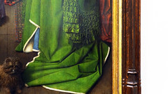 Jan Van Eyck, Drapery detail, The Arnolfini Portrait