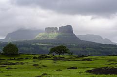 Ruins of Tailbaila Fort (_Amritash_) Tags: tailbaila fort ruins tailbailafortruins sahyadri sahyadrirange monsoon monsoontravel trek magmaticdyke steep verticalwallofrocks viewfromsudhagadfort maharashtra