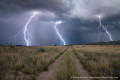 Three Bolts (David Swindler (ActionPhotoTours.com)) Tags: arizona southwest stormyskies bolt bolts desert lightning monsoon road storm stormy
