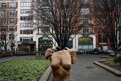 London (jaumescar) Tags: headless nopeople statue street art woman broken breast chest artist sculpture creepy urban park tree branch