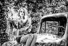 smouldering eyes (davcsl) Tags: bw blackwhite biancoenero blackandwhitephotosonly davcsl france fille gard languedocroussillon monochrome model monotones noiretblanc noiretblancblackwhite nb nimes nîmes occitanie people portrait southoffrance urban urbanstreet urbex women woman sexy feu journal fire news camion