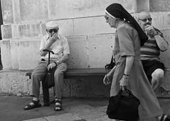 Nun (alicejack2002) Tags: nun valletta malta leica street bw