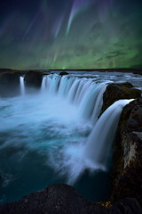 God's Falls (FredConcha) Tags: godafoss iceland nature landscape waterfall river aurora northernlights stas night fredconcha nikond800
