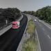Neue Fahrbahndecke bei Moers - Krefeld