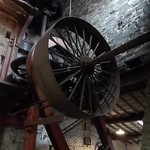 National Slate Museum - Power Hall - spinning wheels 3 - HD video clip thumbnail
