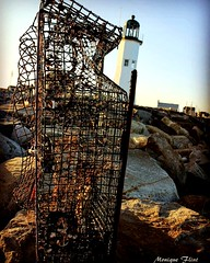 Scitaute Lighthouse (moniquef123) Tags: lighthouse lobstertraps coast seaside landscape building architecture massachusetts scituate coastal rocks