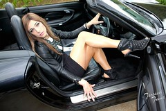 Sports Car & Studs (jessicajane9) Tags: tg crossdresser tranny crossdressing transvestite feminization tgurl cd trans feminised xdress transgender crossdress m2f tgirl pantyhose tights leather tv